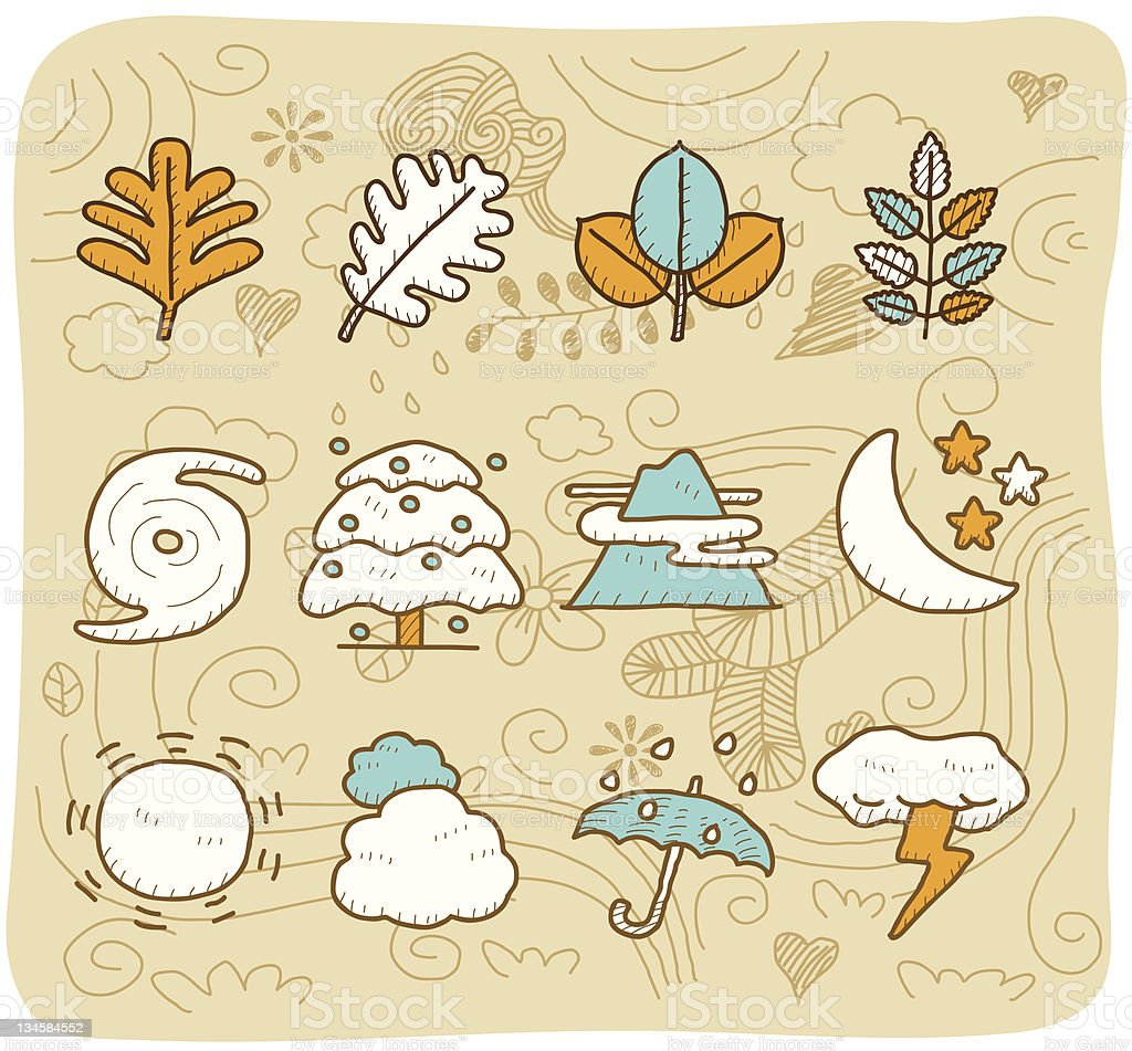 Natural,Weather icon set | Mocha Series royalty-free stock vector art