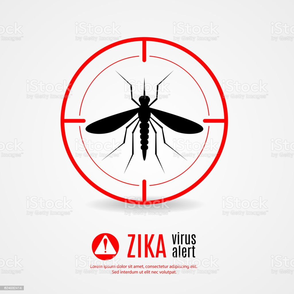 Nature, Aedes Aegypti mosquitoes with stilt target. sights signal. vector art illustration