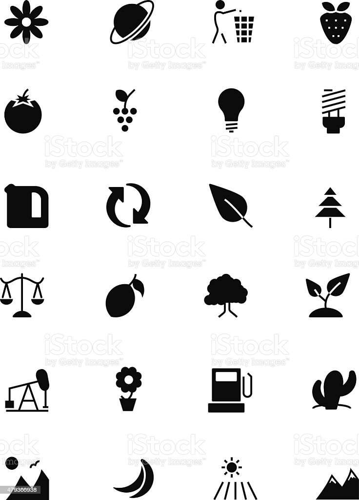 Nature and Ecology Vector Icons 2 vector art illustration