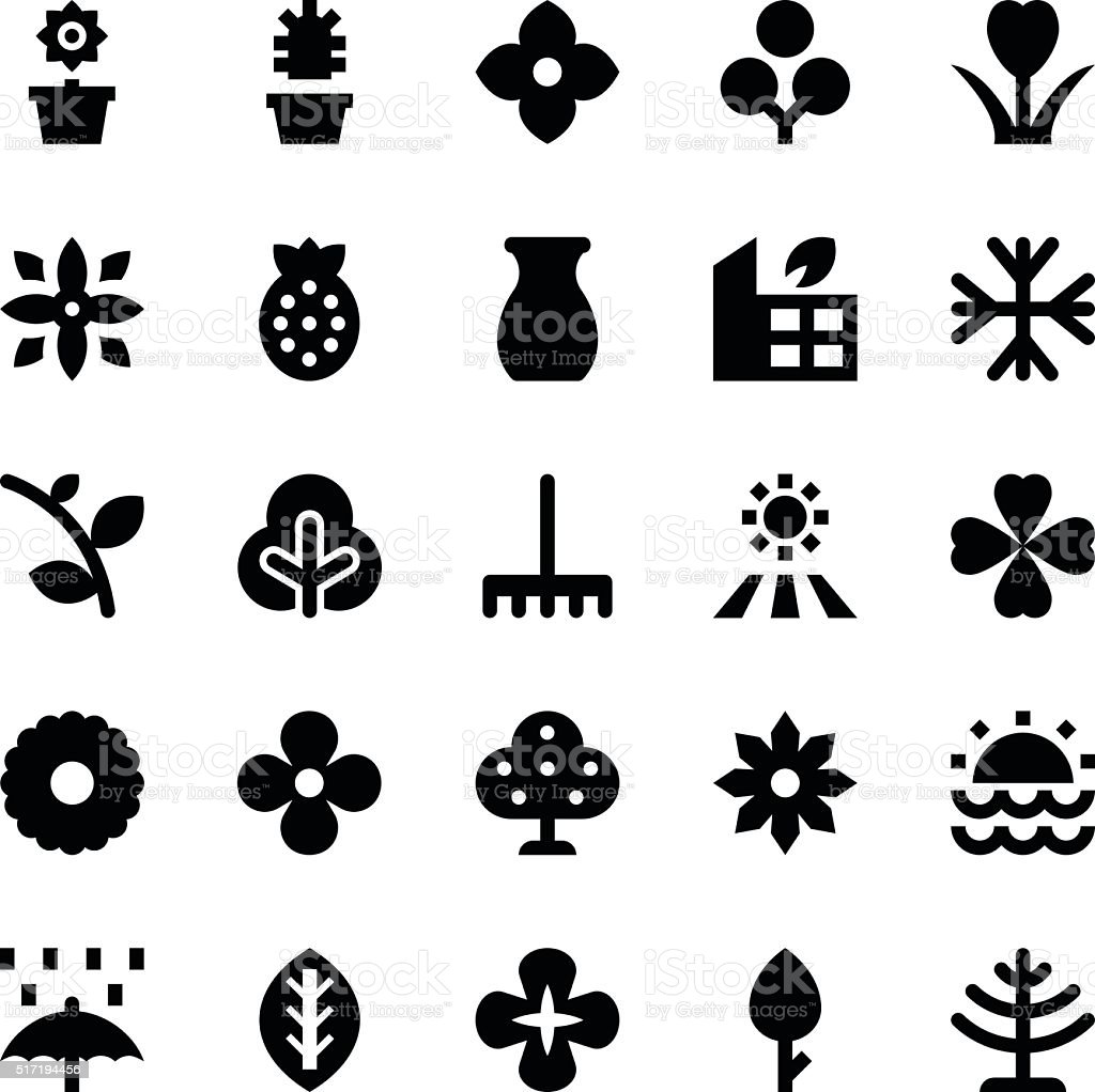 Nature and Ecology Vector Icons 5 vector art illustration