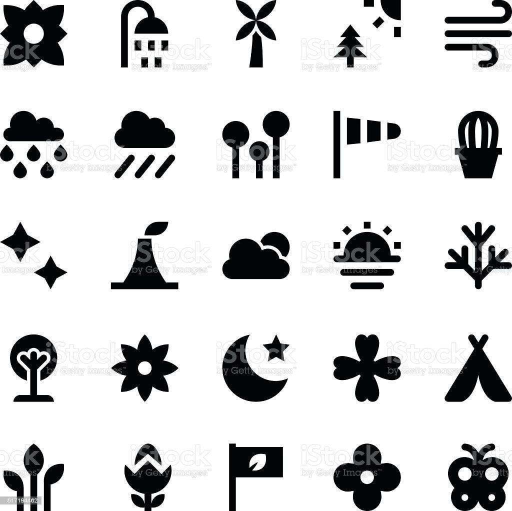 Nature and Ecology Vector Icons 6 vector art illustration