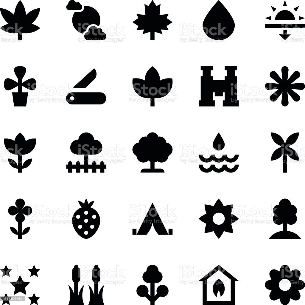 Nature and Ecology Vector Icons 7 vector art illustration