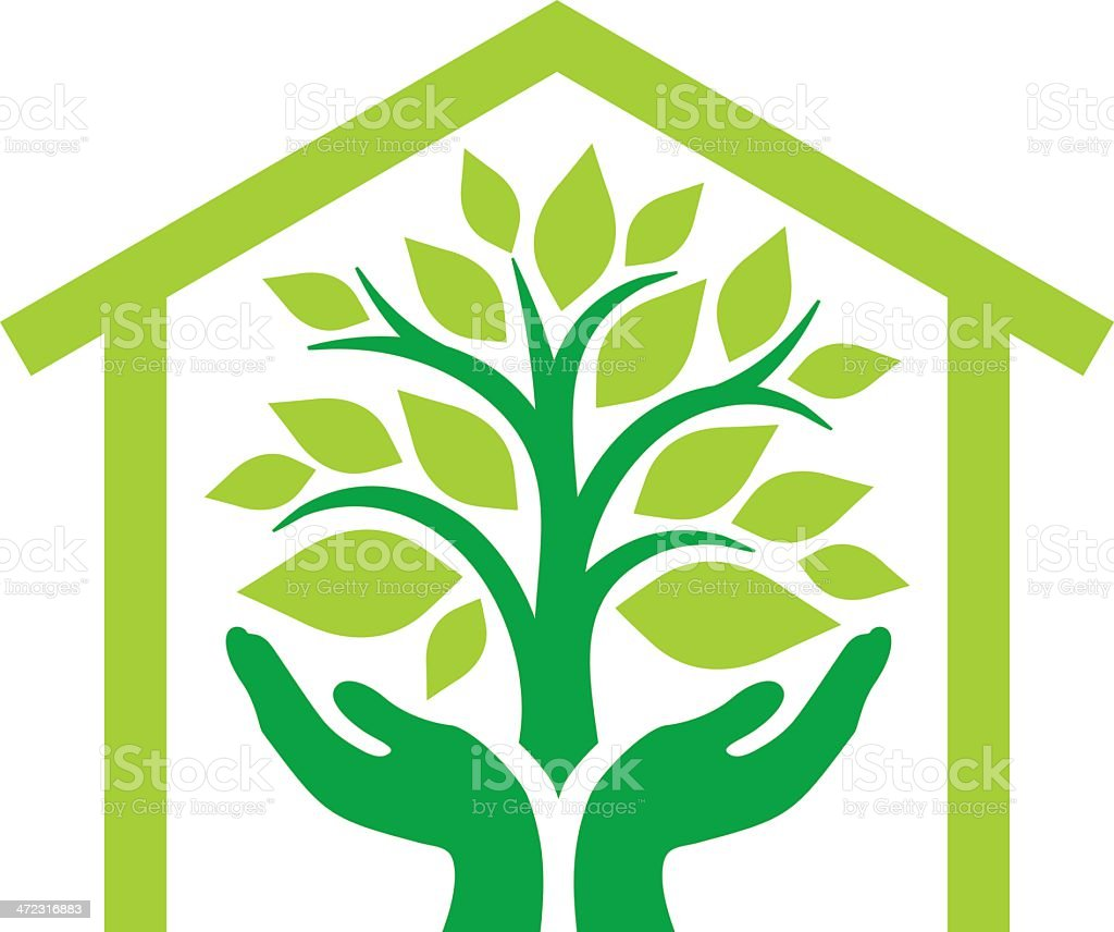 Nature at home vector art illustration