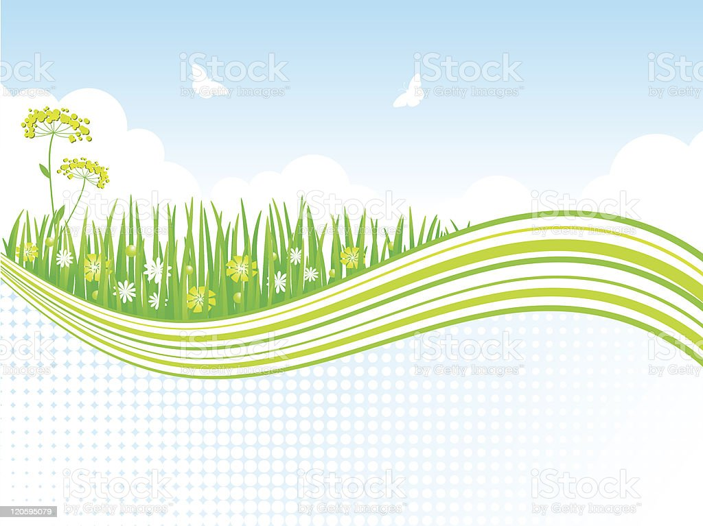 Nature background. Vector illustration. royalty-free stock vector art