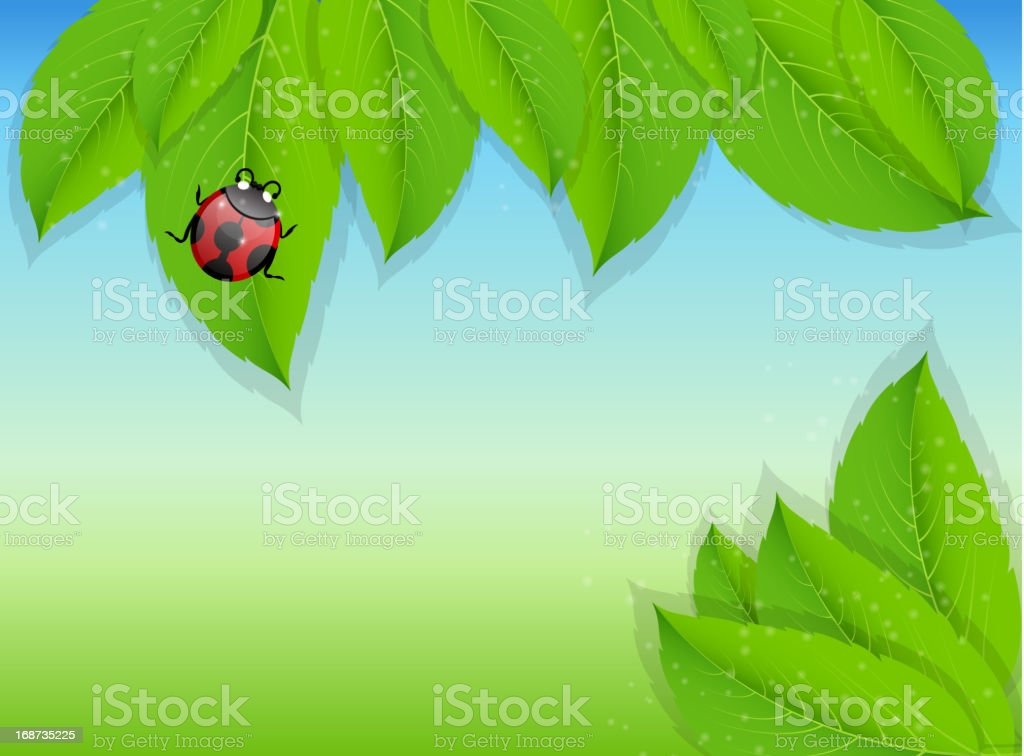 nature background. Vector illustration royalty-free stock vector art