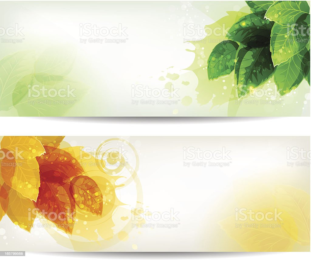 Nature banner royalty-free stock vector art
