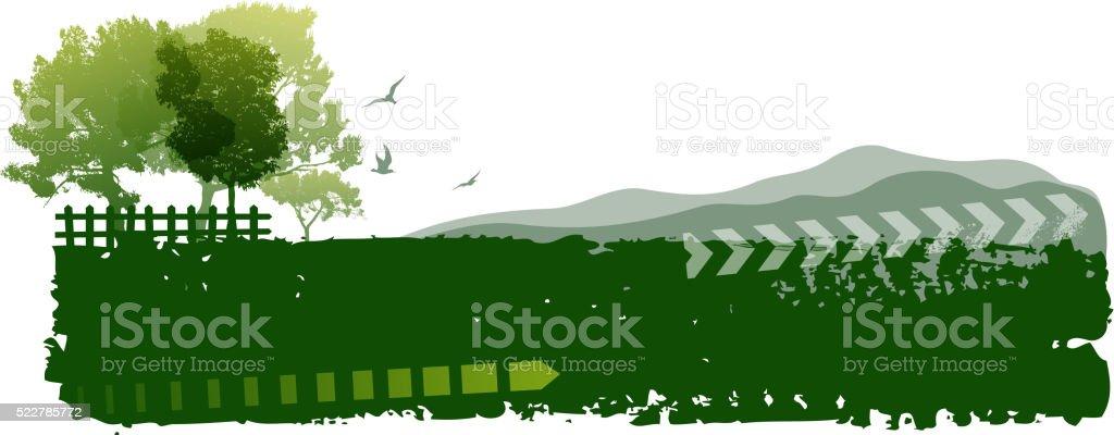 nature banner vector art illustration