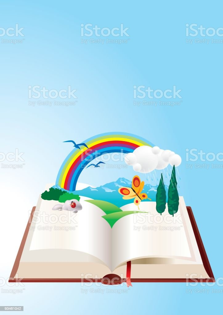nature book vector art illustration