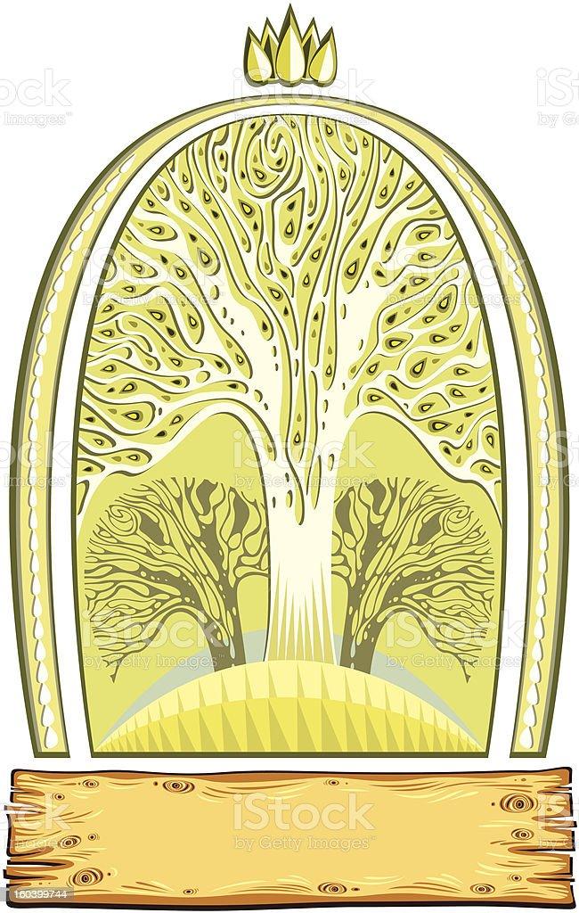 Nature emblem. royalty-free stock vector art