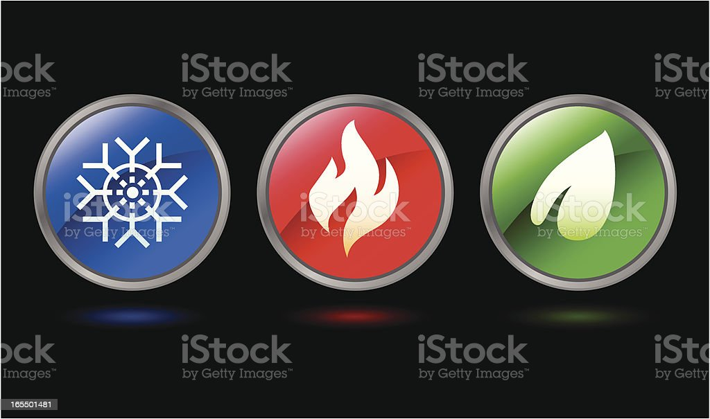Nature Gel Icons royalty-free stock vector art