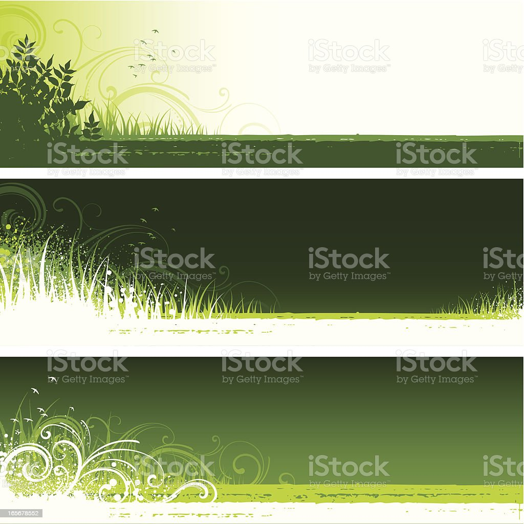 Nature green backgrounds royalty-free stock vector art
