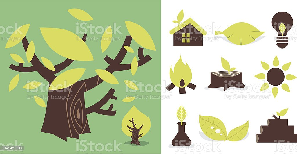 Nature icon 01 royalty-free stock vector art