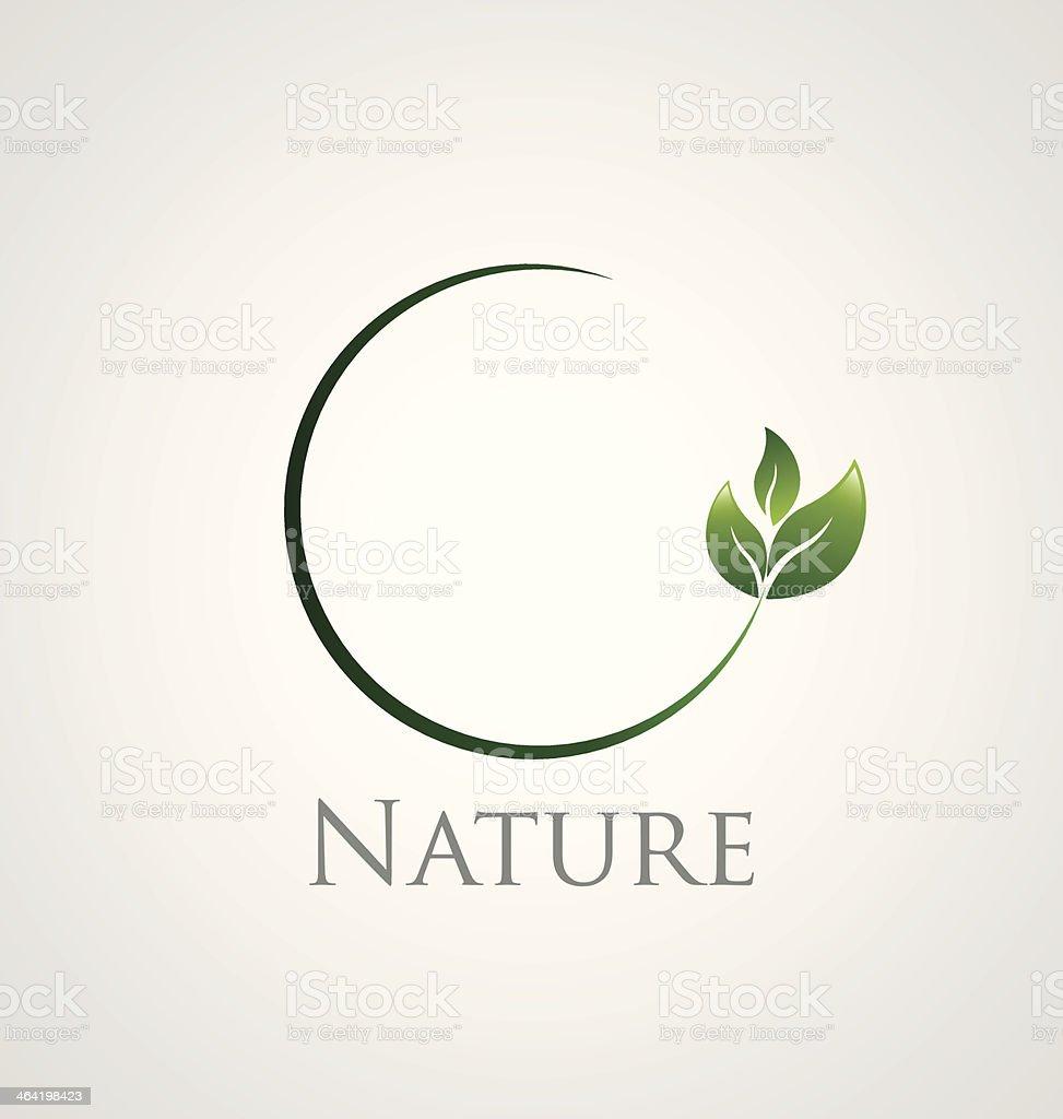 Nature icon vector art illustration