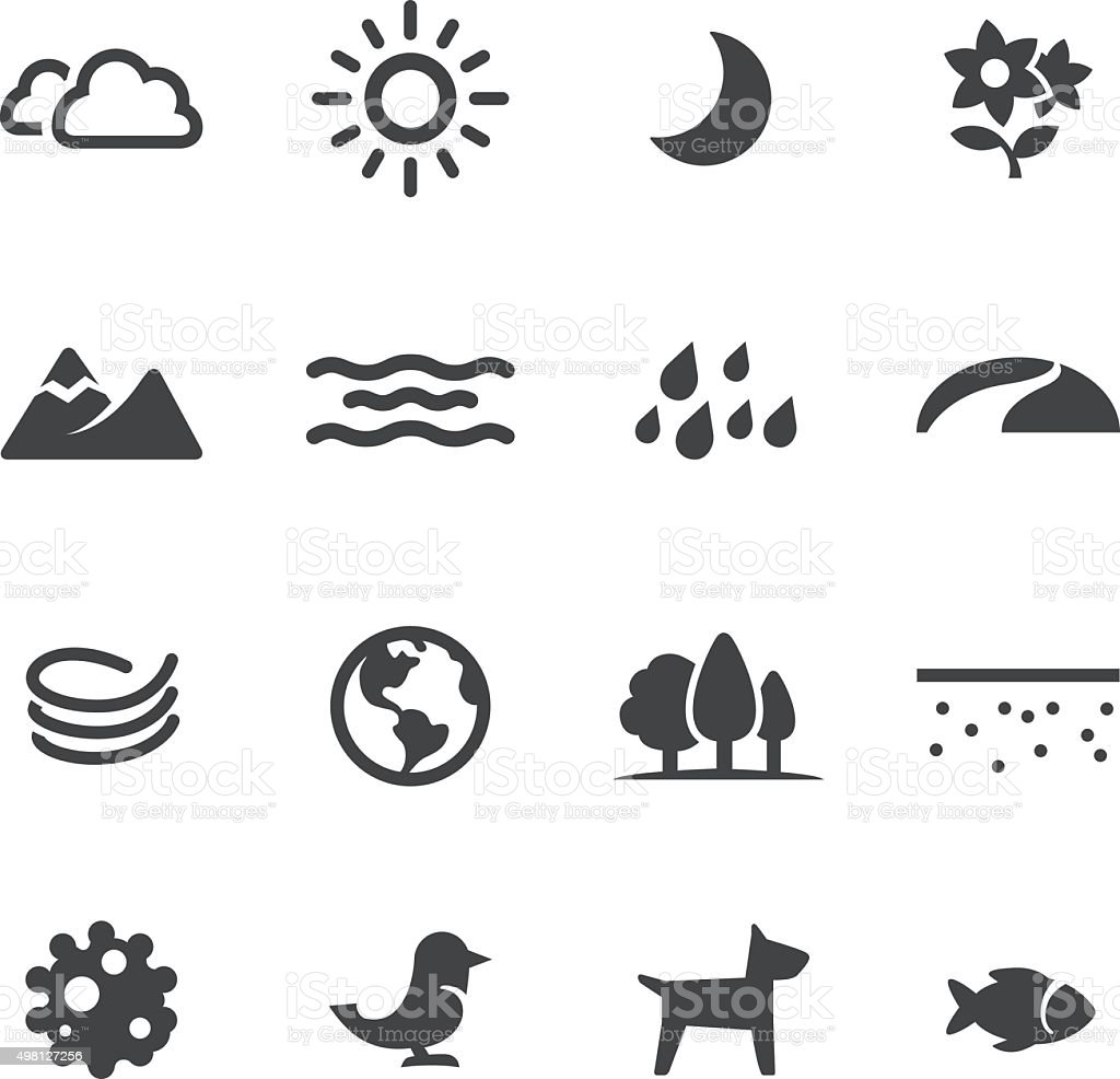 Nature Icons - Acme Series vector art illustration
