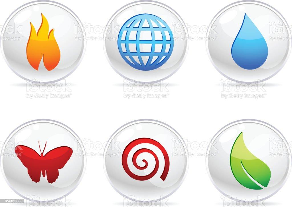 Nature Icons. vector art illustration