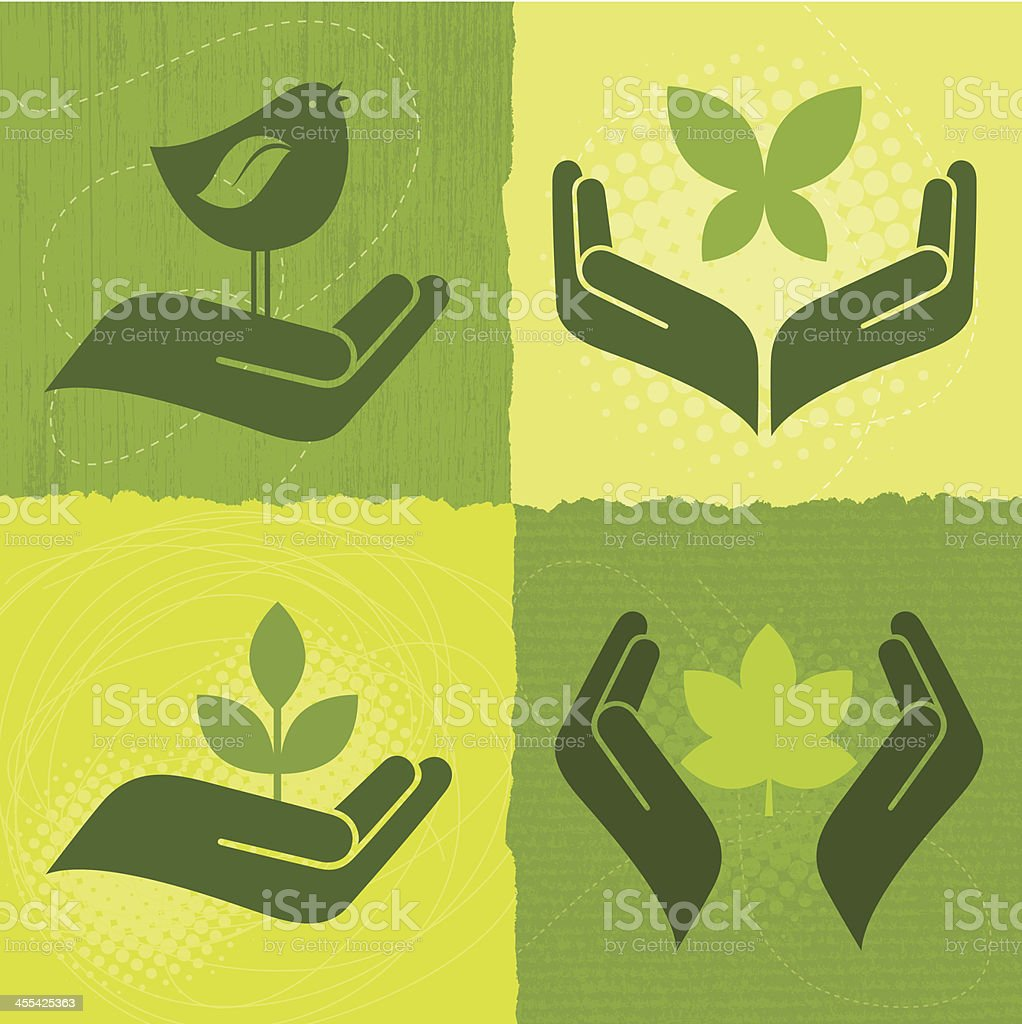 Nature Icons (Green World Series) royalty-free stock vector art