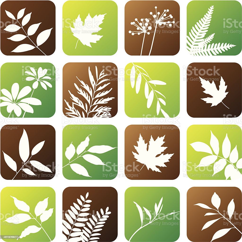Nature icons vector art illustration