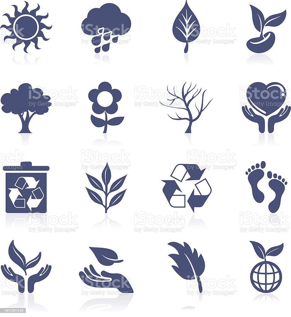 Nature interface icon vector art illustration