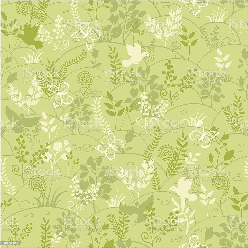 Nature kingdom seamless pattern royalty-free stock vector art