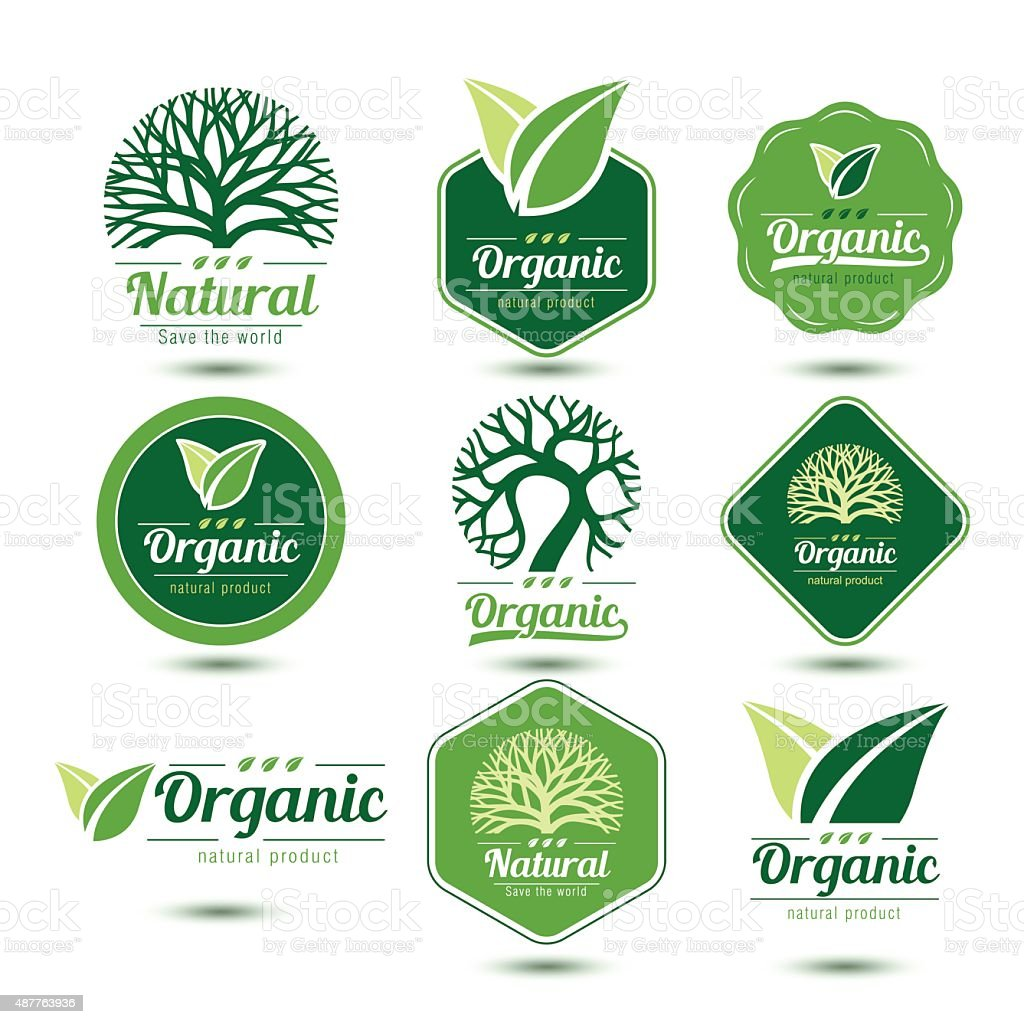 Nature label vector art illustration