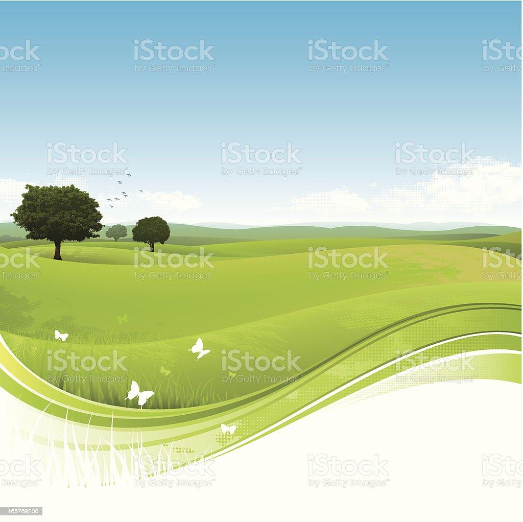 Nature landscape background vector art illustration