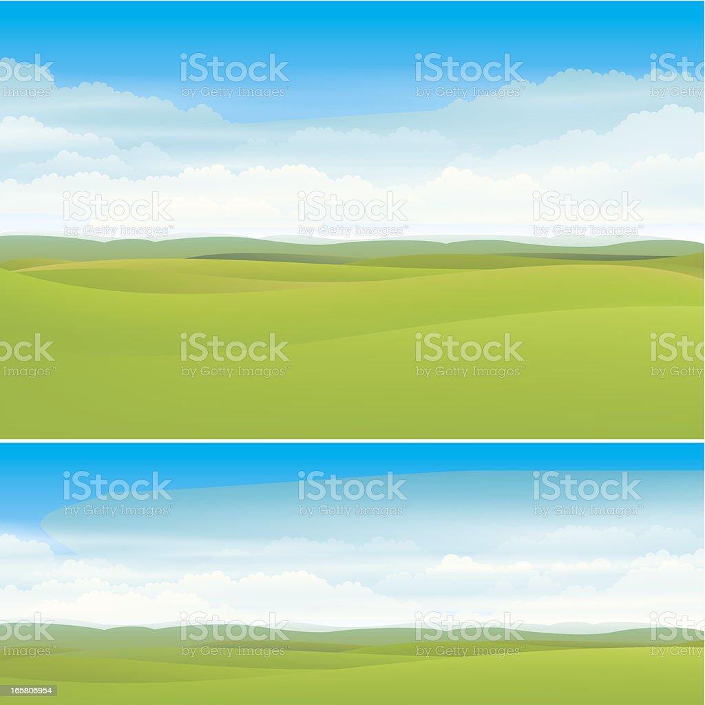Nature landscape backgrounds vector art illustration