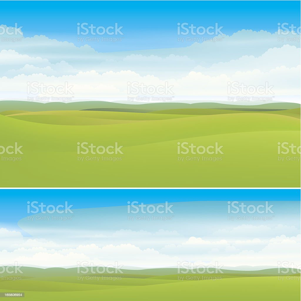 Nature landscape backgrounds vector art illustration