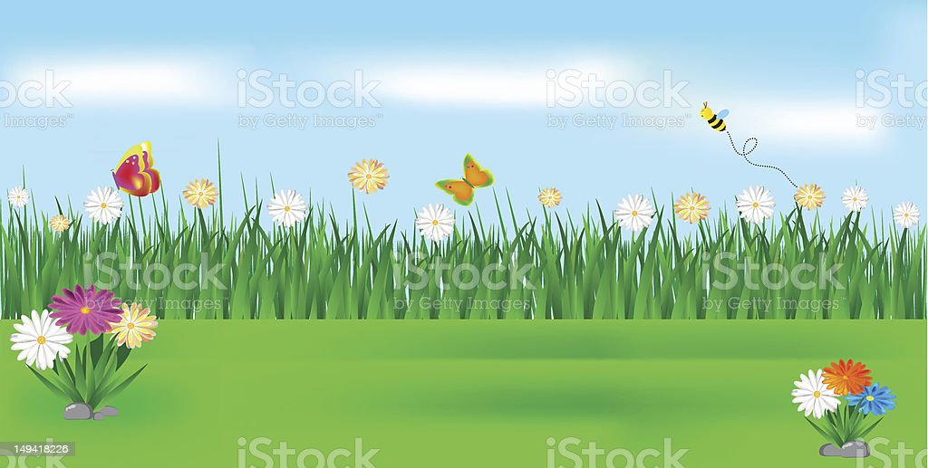 Nature landscape royalty-free stock vector art