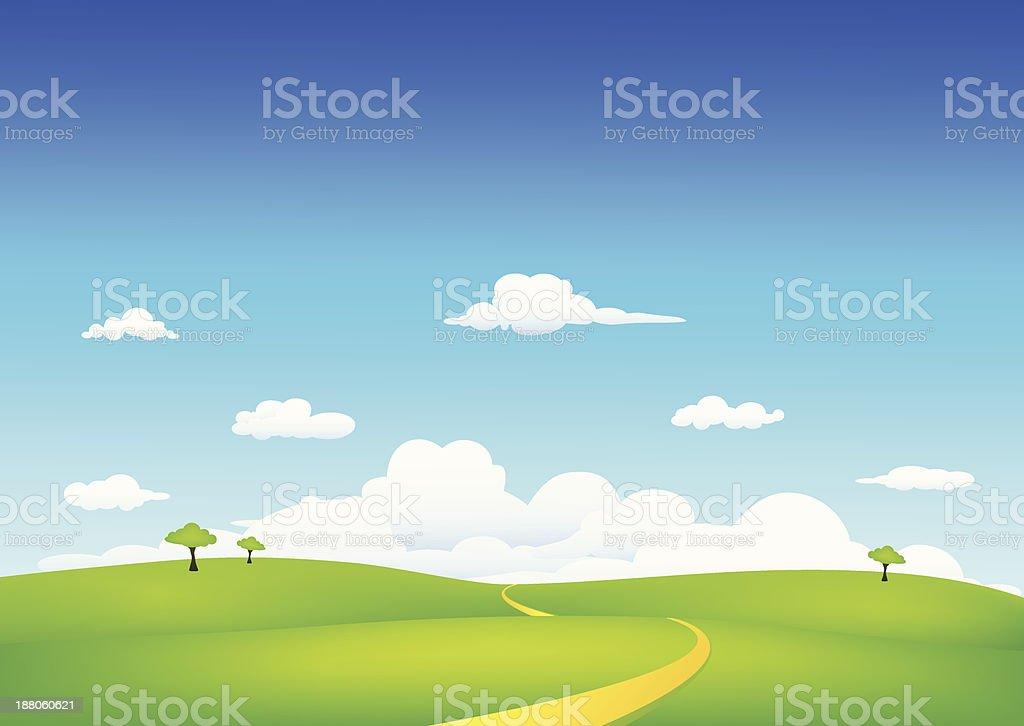 nature landscape vector art illustration