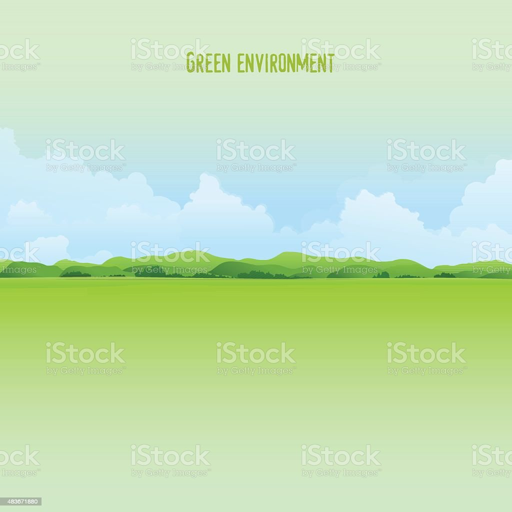 Nature landscape vector art illustration