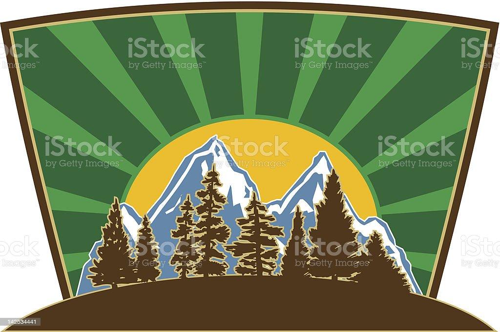 Nature Logo Design royalty-free stock vector art