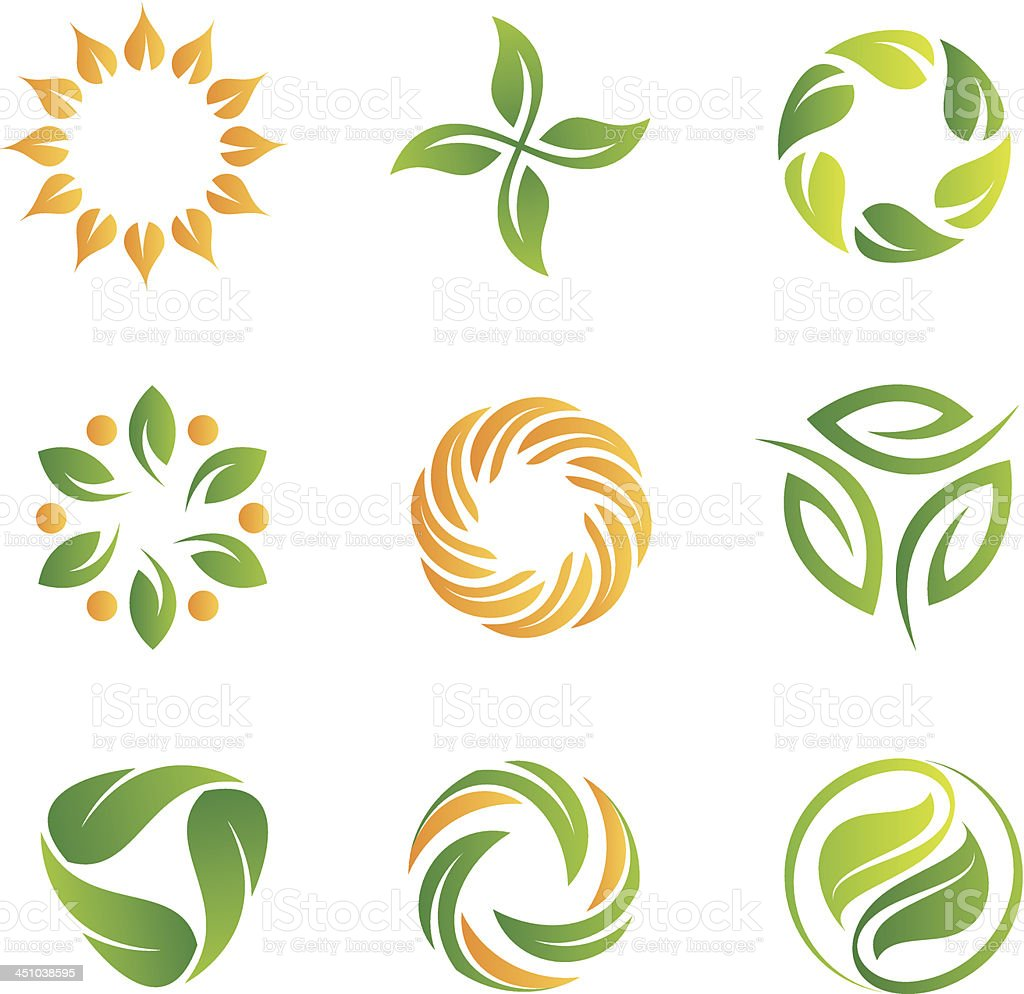 Nature loop logos and icons template vector art illustration