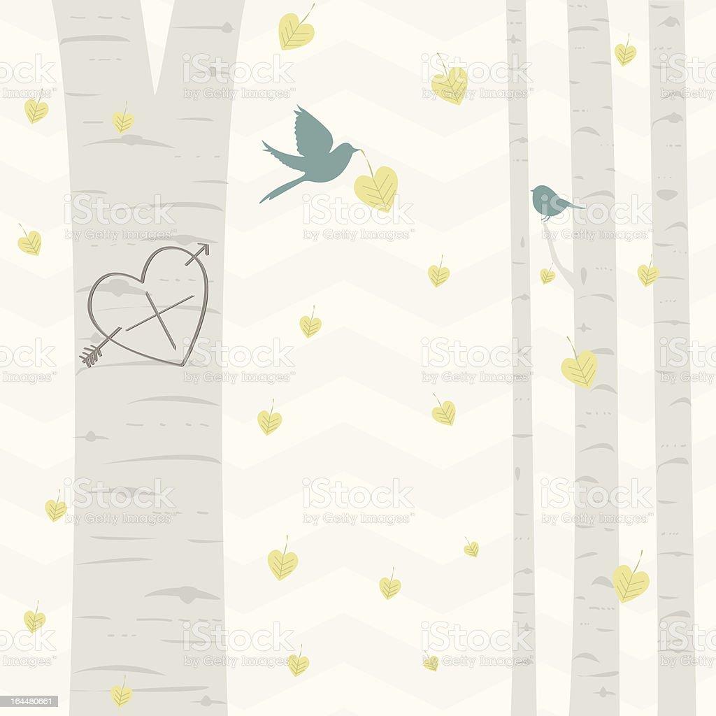 Nature Love vector art illustration