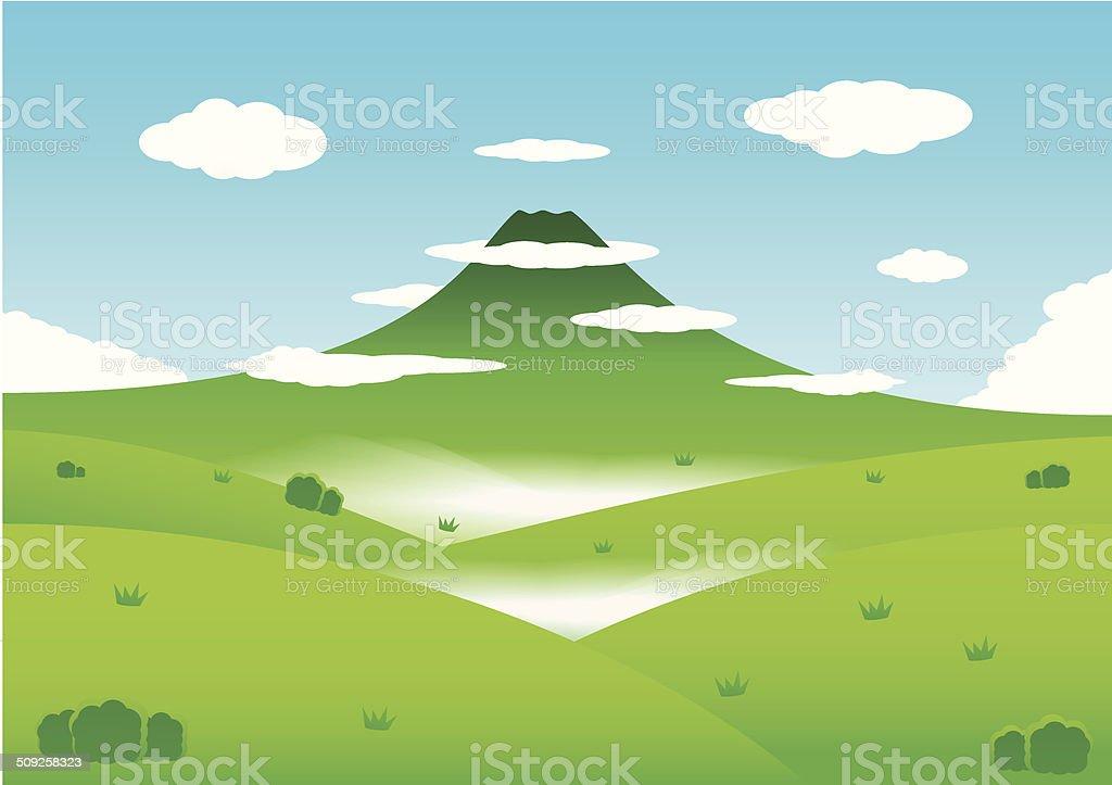 Nature avec les montagnes en arrière plan stock vecteur libres de droits libre de droits