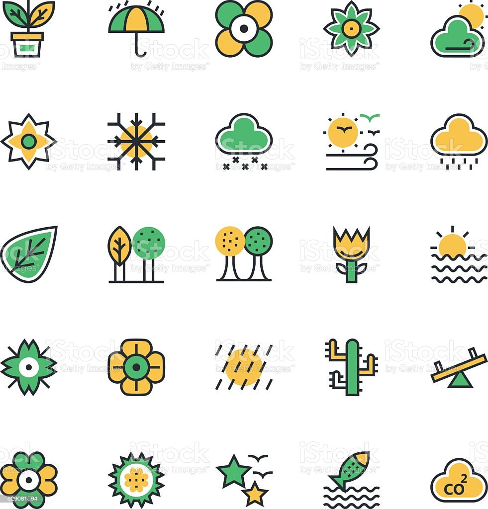 Nature, Park Vector Icons 2 vector art illustration