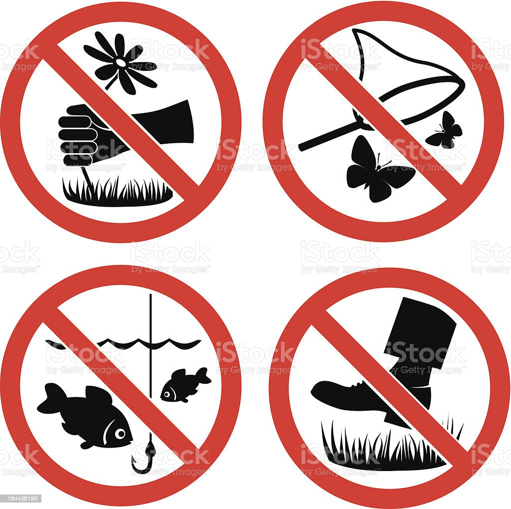 Nature protection vector signs royalty-free stock vector art
