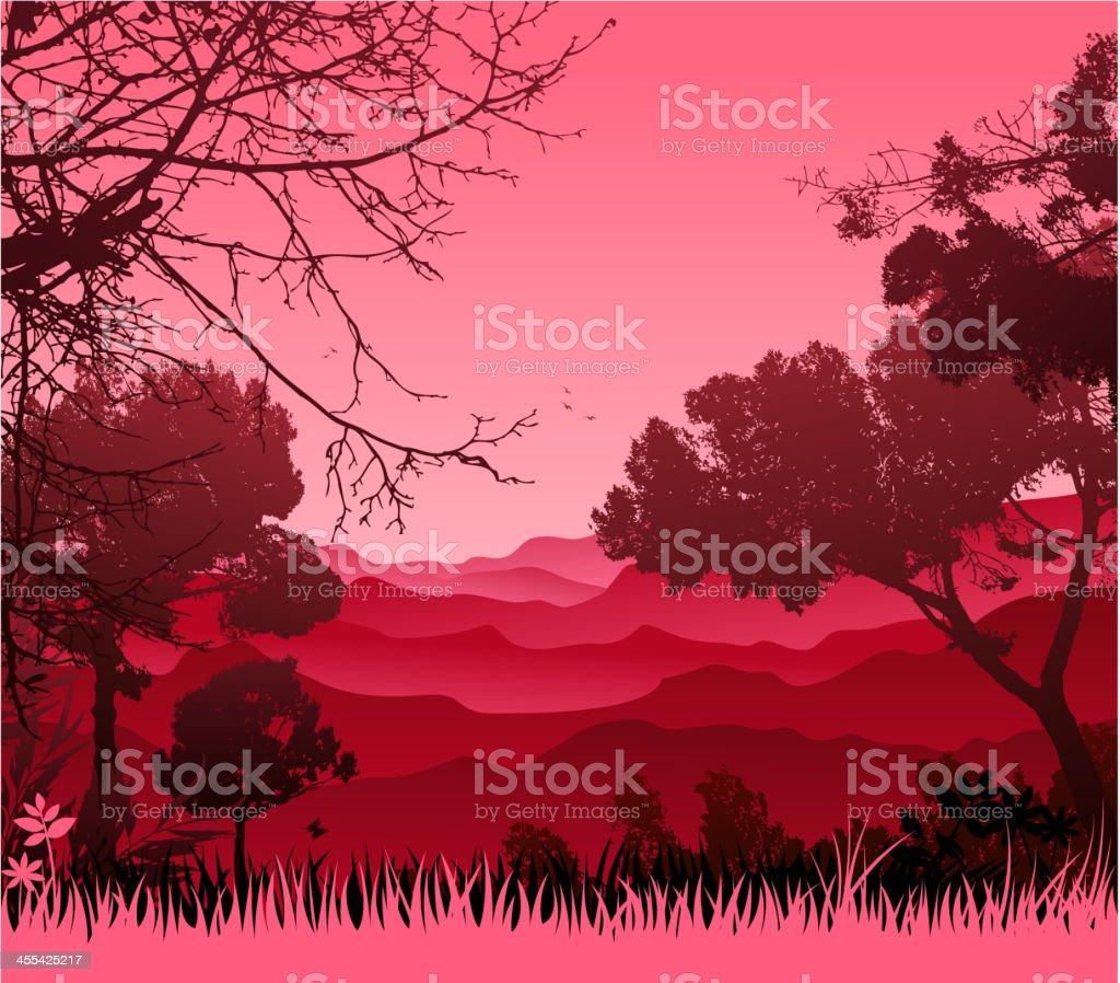 nature silhouette vector art illustration