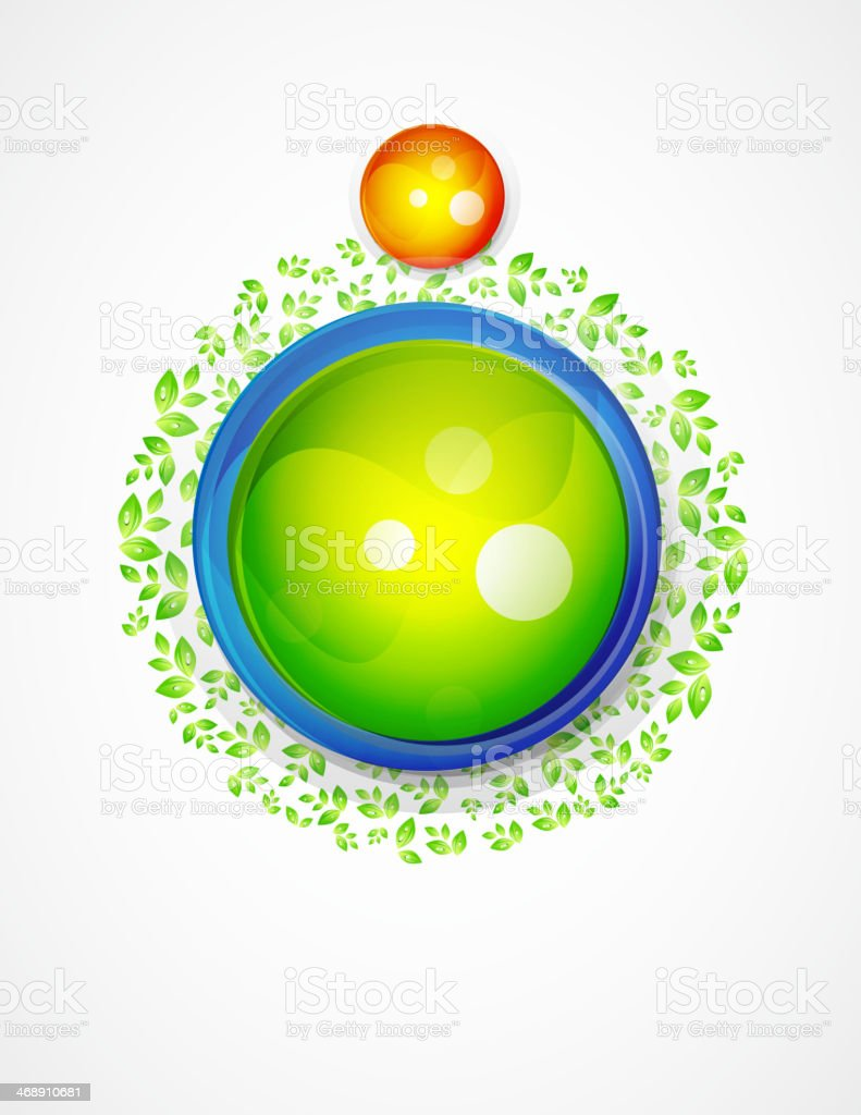 Nature sphere design royalty-free stock vector art