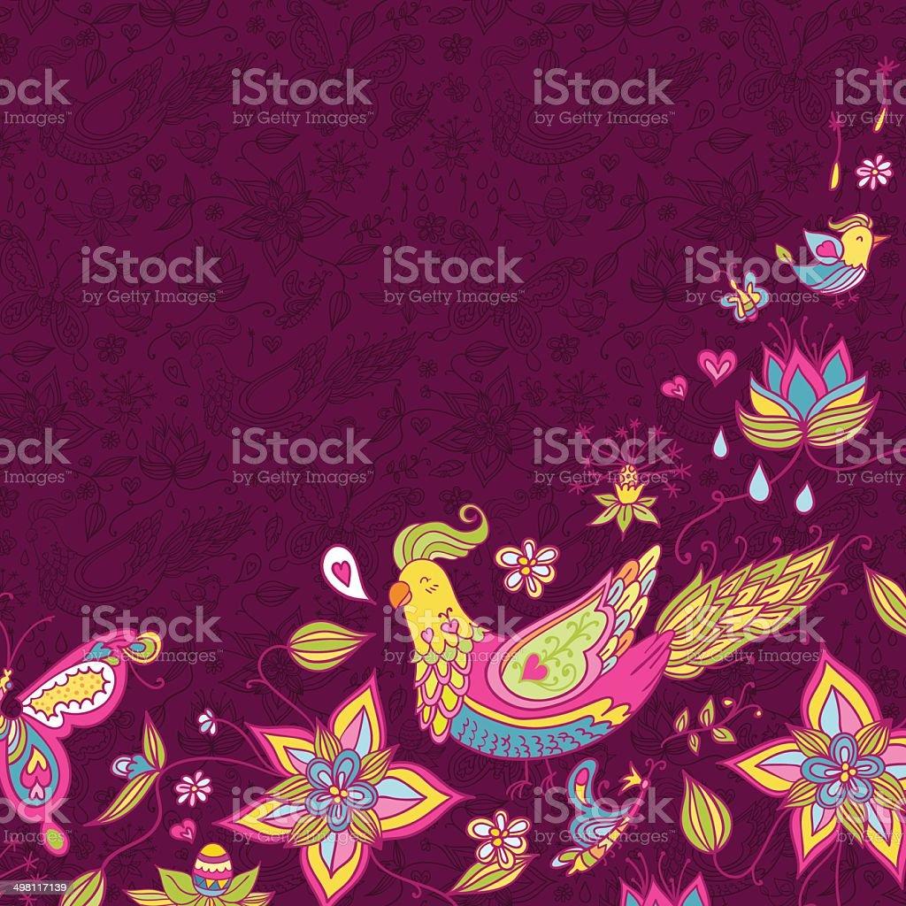 Nature spring template background vector art illustration