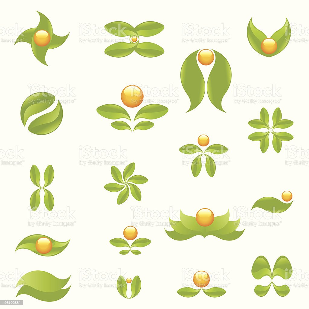 Nature symbols royalty-free stock vector art