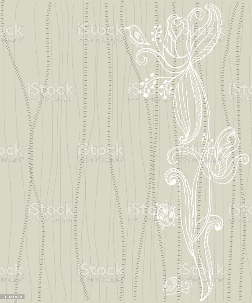 Nature Themed Background royalty-free stock vector art