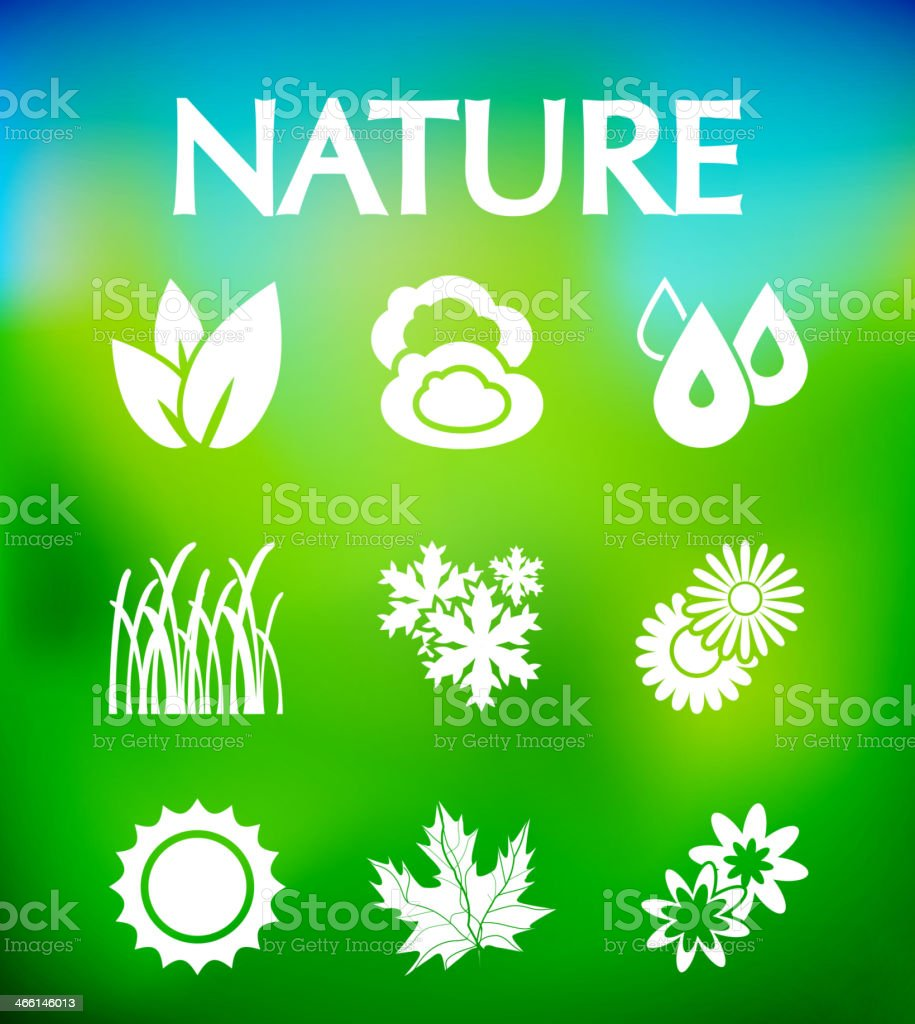 Nature vector icons royalty-free stock vector art