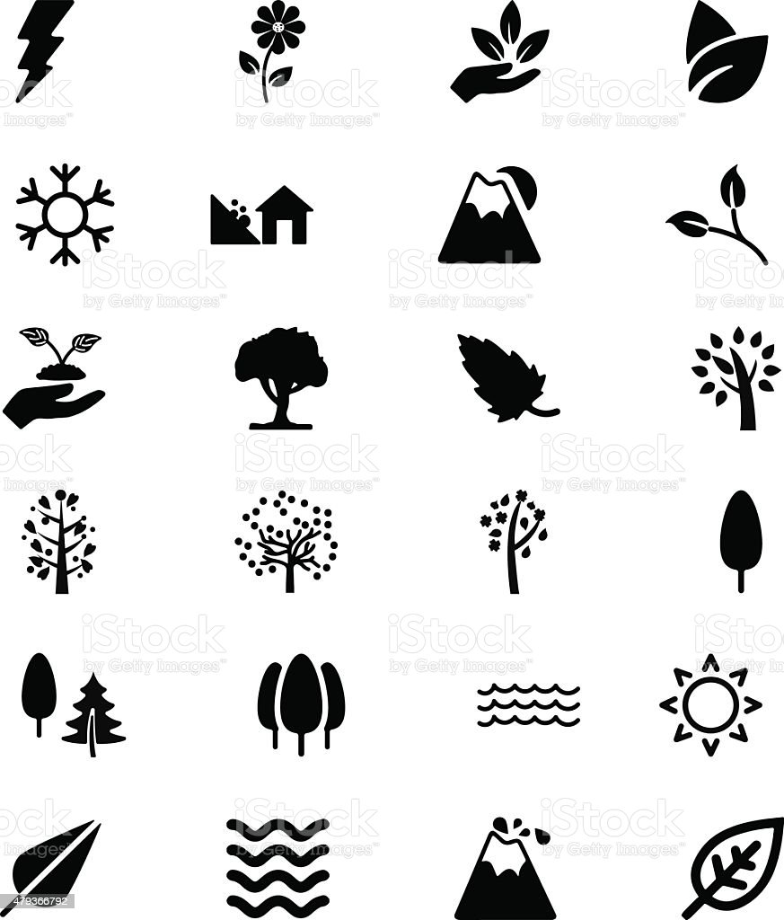 Nature Vector Solid Icons 4 vector art illustration