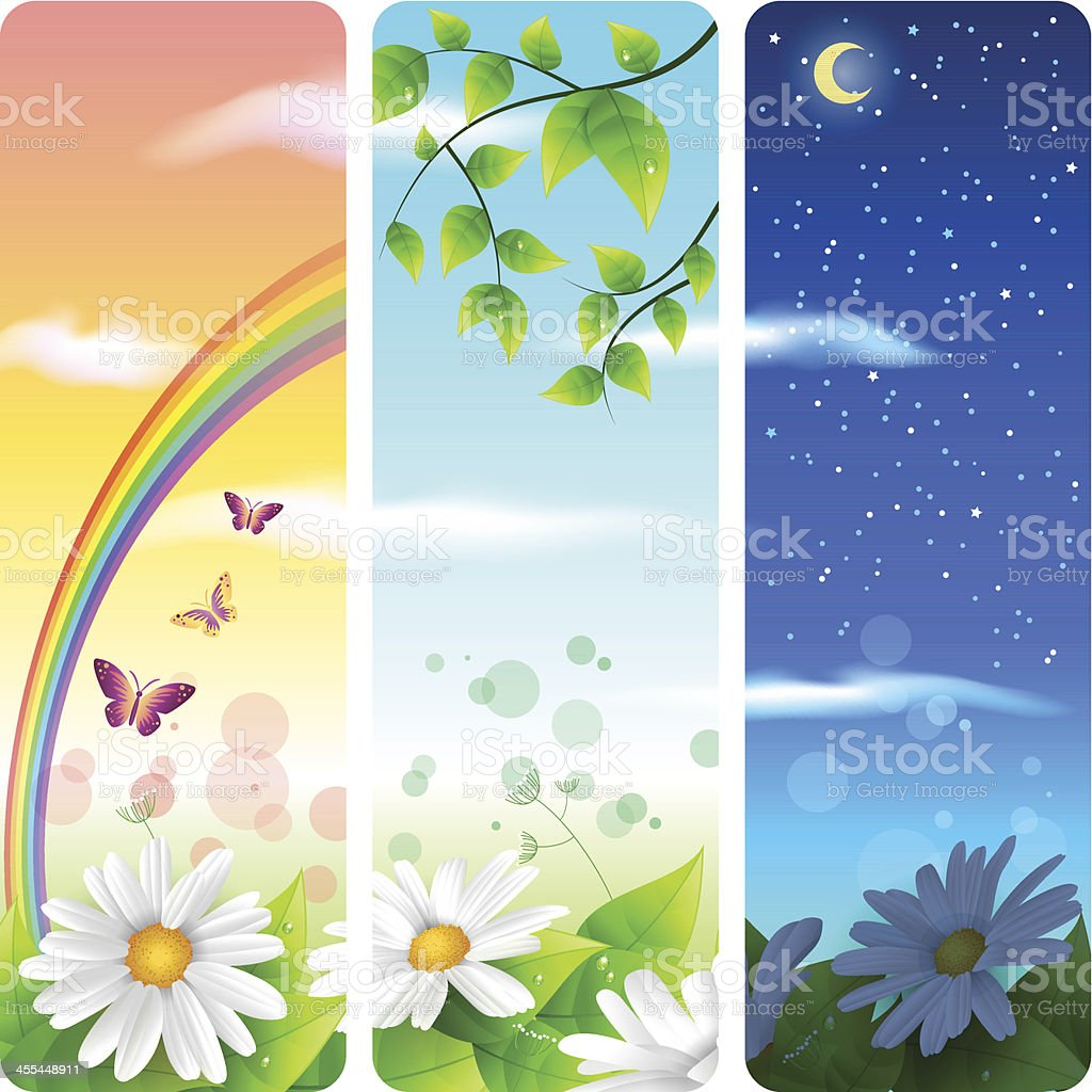 Nature vertical banners royalty-free stock vector art