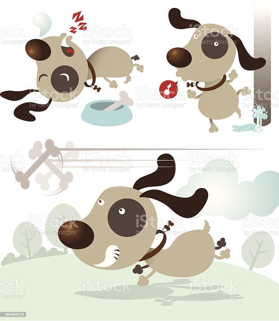 Naughty Puppy vector art illustration
