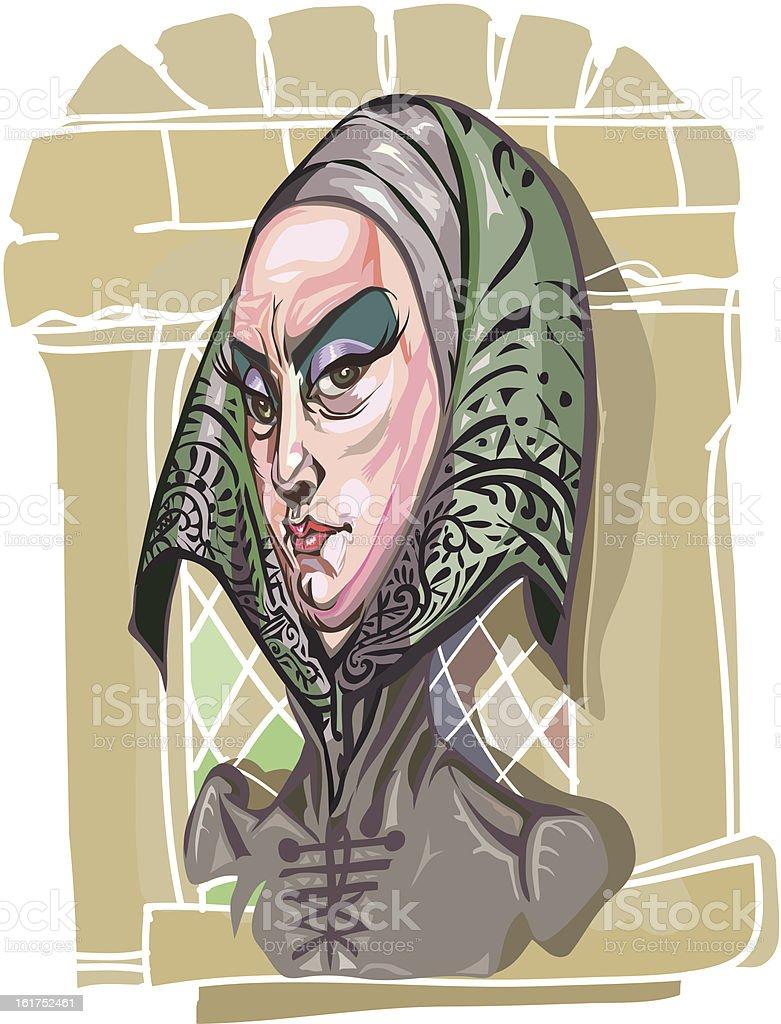 naughty queen royalty-free stock vector art
