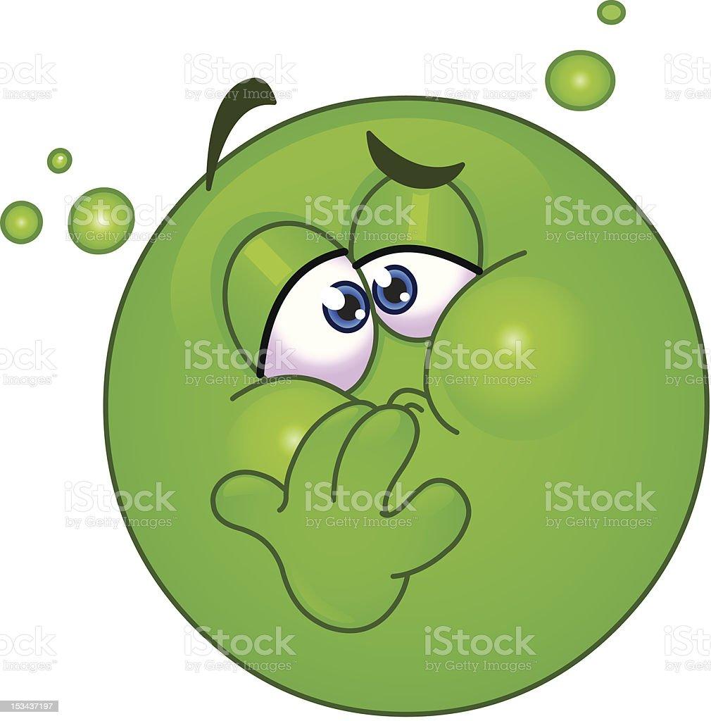 Nauseous emoticon vector art illustration