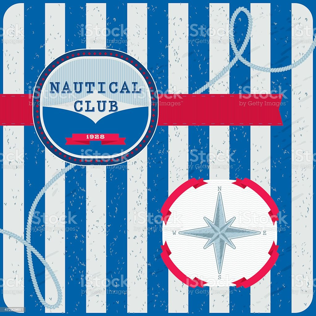 Nautical Club (Background) royalty-free stock vector art
