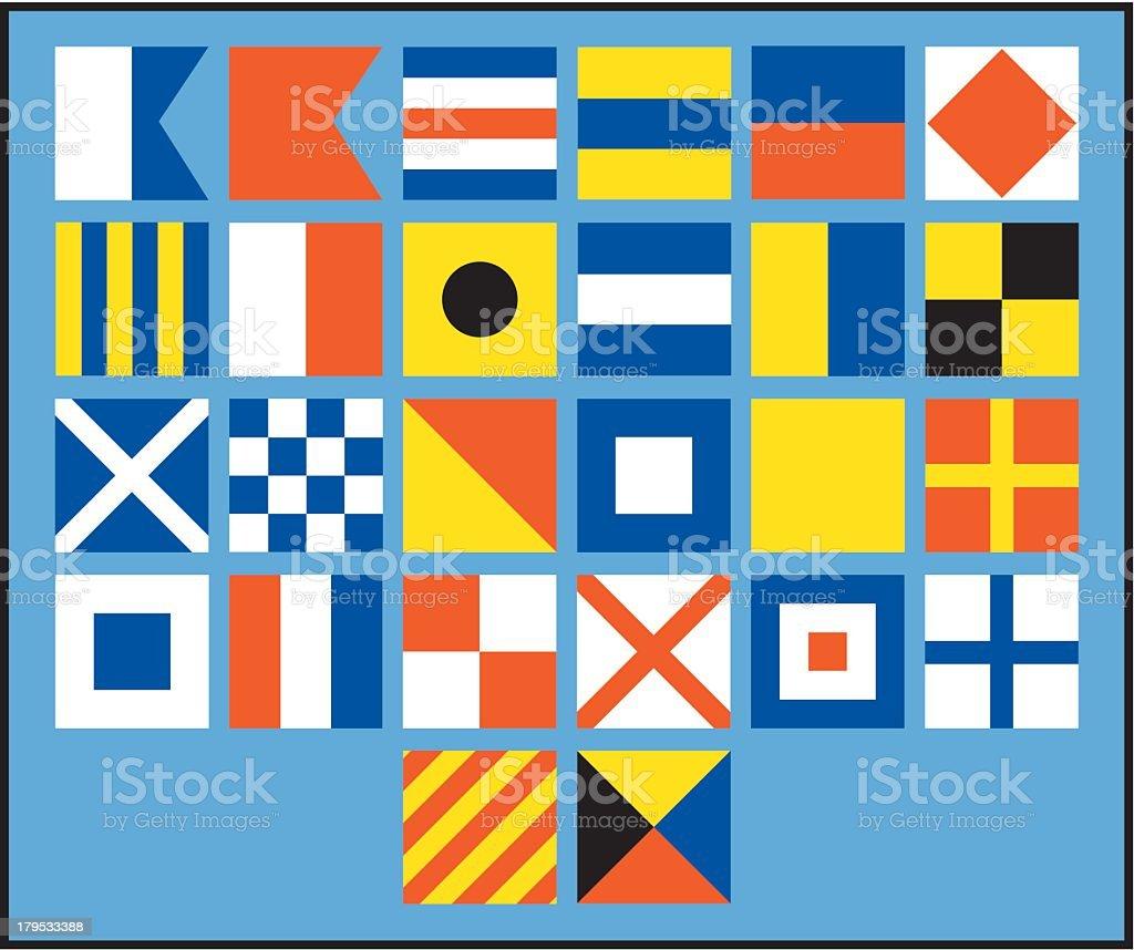 Nautical Flags royalty-free stock vector art
