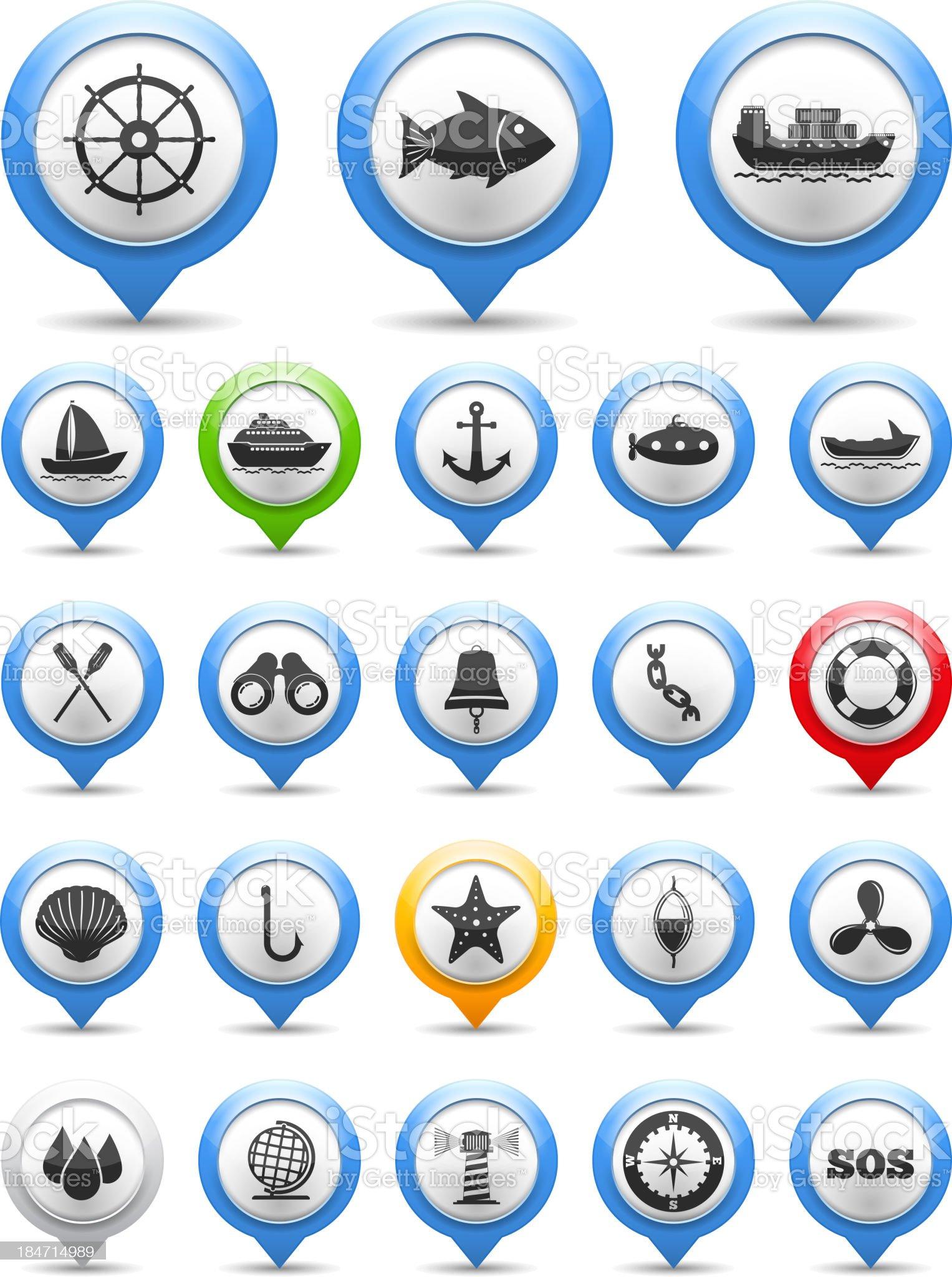 Nautical Icon royalty-free stock vector art